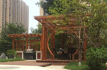 郑州别墅花园设计施工案例-龙湖九溪郡