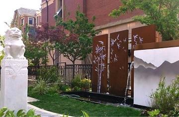 庭院设计施工案例:郑州天伦庄园