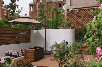 郑州天伦庄园别墅花园设计与施工